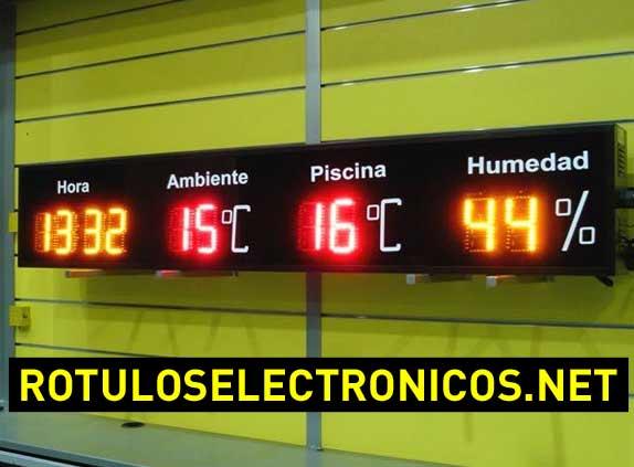 Displays de leds para piscinas con temperatura, hora y humedad